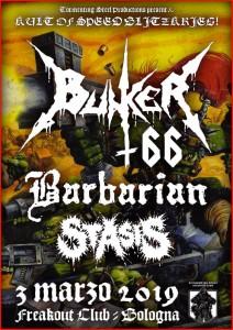 Bunker 66 + Barbarian 03.03.2019 Bologna