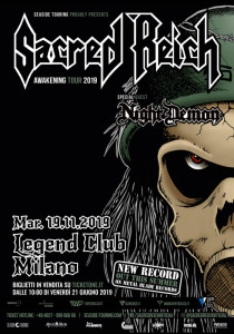 Sacred Reich 19.11.2019 Milano