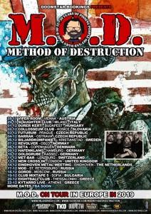 M.O.D. eu tour 2019