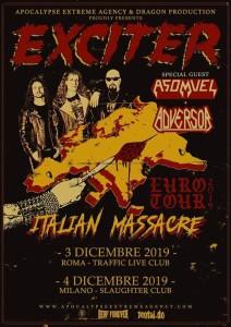 Exciter - 3-4.12.2019 Roma Milano